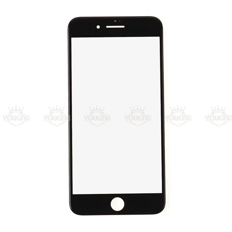 For Apple iPhone 8 Glass Lens With Front Bezel and OCA Glue sheet