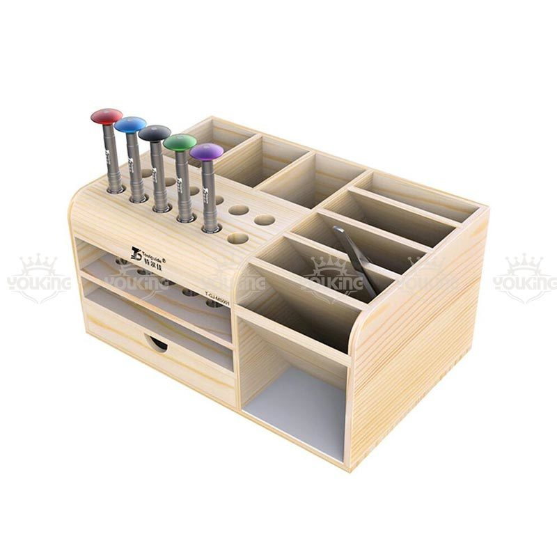 China Factory Wooden Mobile Phone Repair Tool Storage Box