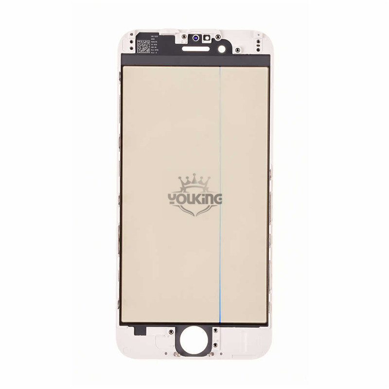 For Apple 6 Glass Lens with Front Bezel OCA Glue Sheet and Polarizer Film