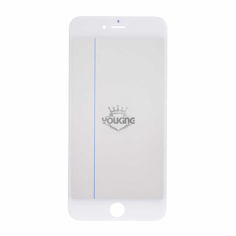 For Iphone 6s Plus Glass Lens with Front Bezel and OCA Glue Sheet - White