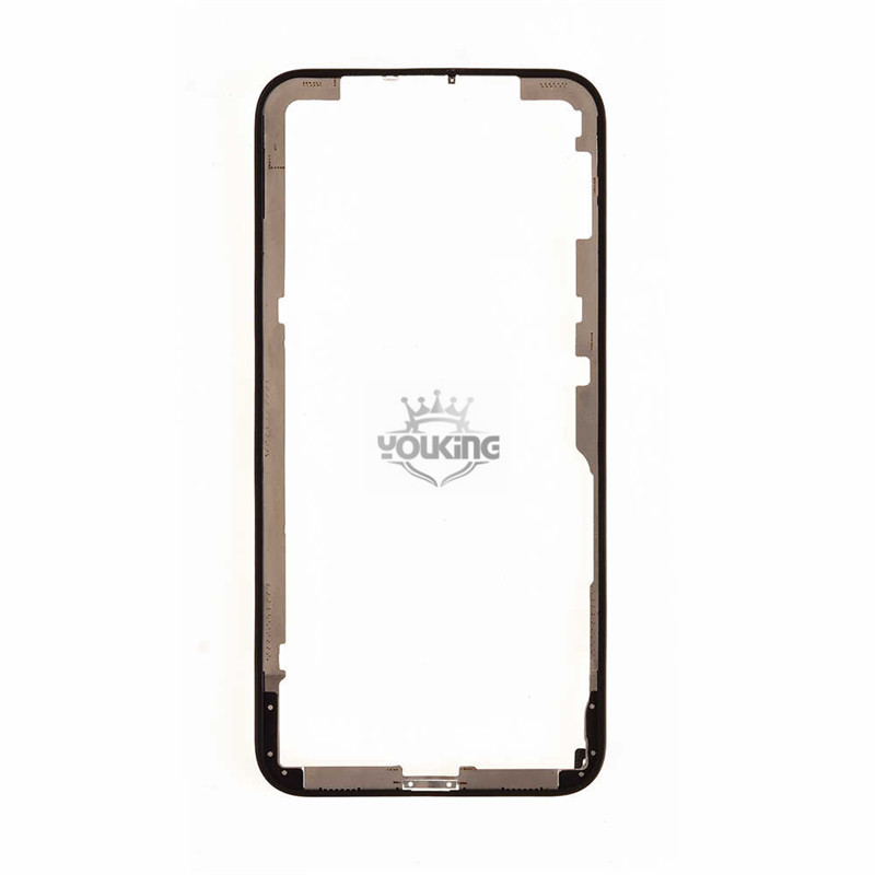 For Apple iPhone X Front Bezel with Glue - Black