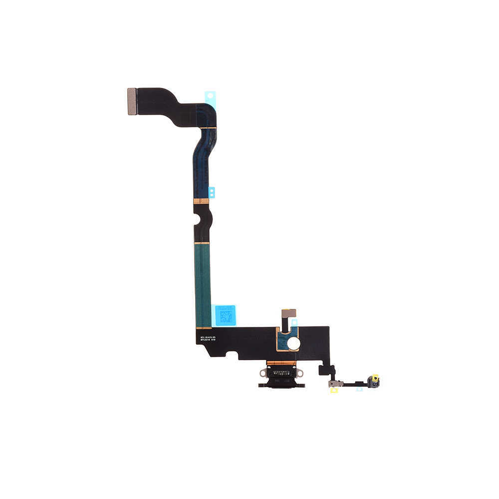 For iPhone XS Max Charging Port Flex Cable black