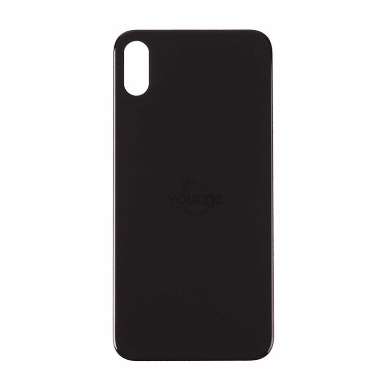 For Apple iPhone X Back Glass Cover With Big Camera Hole Replacement Black