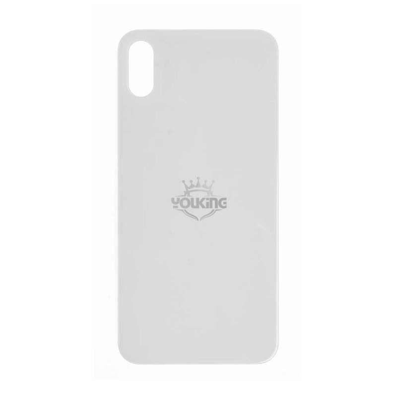 For Apple iPhone X Back Glass Cover With Big Camera Hole Replacement White