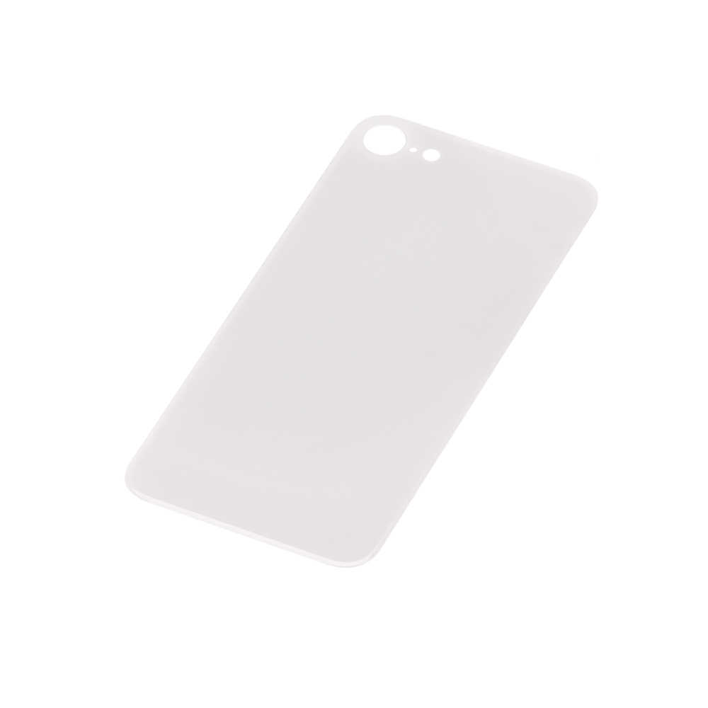 For Apple iPhone 8 Back Glass Cover With Big Camera Hole Replacement White