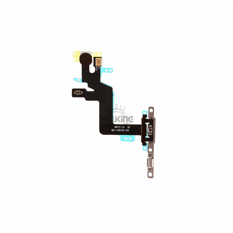 For Apple iPhone 6s Plus Power Switch Flex Cable with Metal Plate
