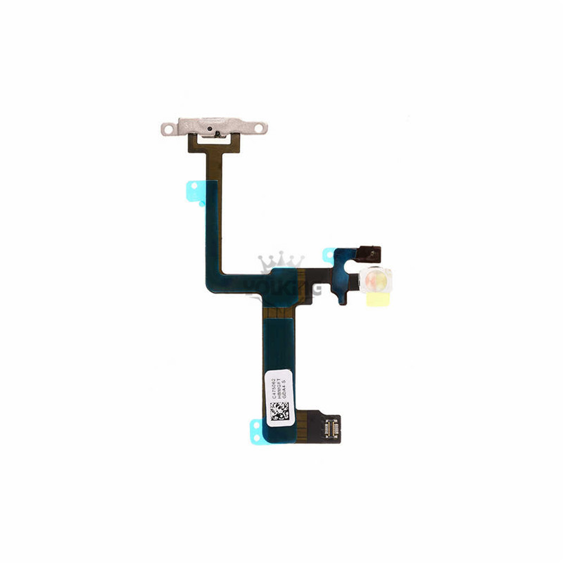 For Apple iPhone 6 Plus Power Button Flex Cable with Metal Plate